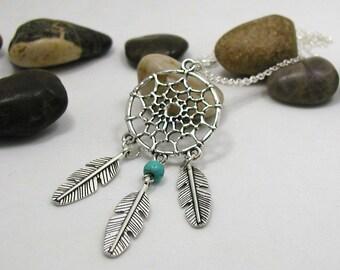 Dreamcatcher Necklace - Dreamcatcher Pendant - Dreamcatcher Charm - Dream Catcher Necklace - Dream Catcher Charm - Dreamcatcher Jewelry
