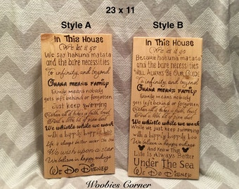 In This House We Do Disney Sign Disney Sign Wood By