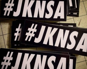 Vinyl Sticker - #JKNSA