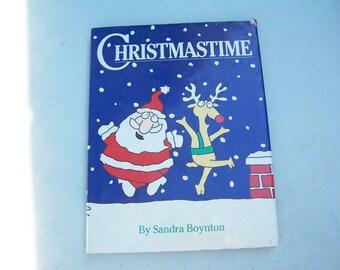 Christmastime book by Sandra Boynton Santa Claus 1987 Workman Publishing