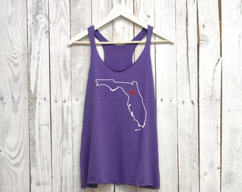 Florida Tank Top. Move the Heart to any City.