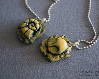 Helix and Dome Fossil Pendants