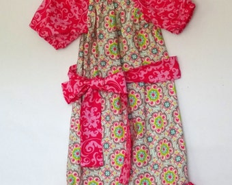Pretty in Pink Peasant Sundress