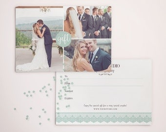 Gift Certificate Template for Photographers - Photography Photo Gift Card - Gift Card - Photography - GC002