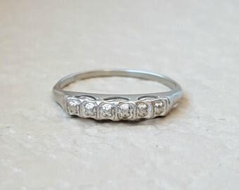 vintage art deco to retro wedding ring anniversary stacking wedding band in 14k - Etsy Wedding Rings