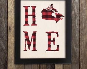 Canada map etsy for Home decor online canada