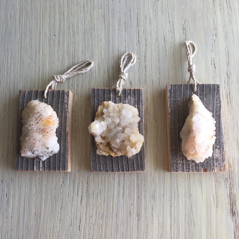 Wall Decor With Crystal : Set of three crystal wall hangings decor quartz