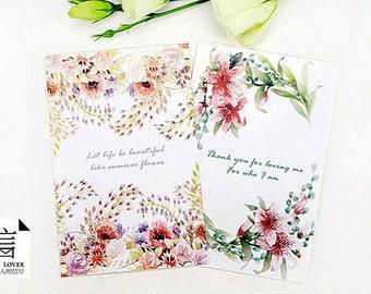 30 Postcards - Flower Love Letter Collection