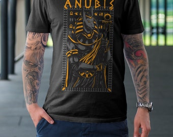 Anubis T Shirt - Anubis Warrior Egyptian T Shirt American Apparel T-shirt shirt adult soft graphic design black  Gift for him tee