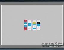 Cross Stitch Pattern: Smurfs Stitch Stacker Allusion (PDF Pattern)