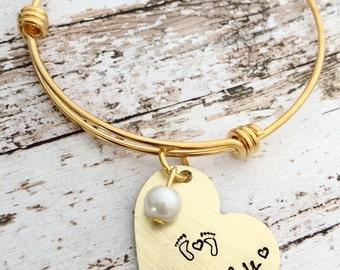 Adoption gift, infertility bracelet, infertility jewelry, someday, gold tone bracelet, ready to ship bracelet, hand stamped bracelet