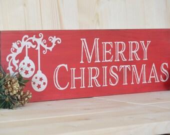 Merry Christmas Sign, Christmas Sign, Rustic Christmas Sign, Christmas Decor, Rustic Christmas, Christmas Mantel Decor, Holiday Sign
