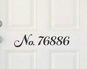 Custom Door Decal Custom Address Number Decal House Number Decal Front Door Decal Door Numbers Address Decal Vinyl For Your Door Couple Gift