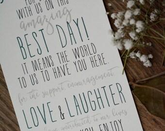 RUSTIC|Wedding Programs #6