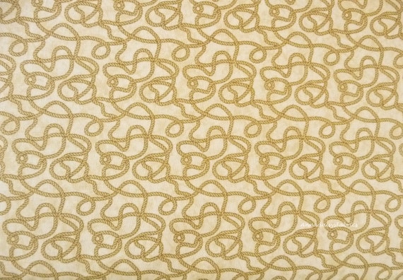 Rope Fabric Northcott 4864 Rodeo Roundup Cheri Strole Tan
