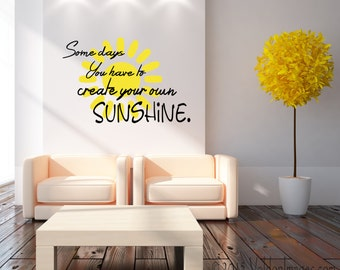 Your own sunshine etsy for Create your own wall mural photo