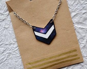 Chevron Nebula Necklace