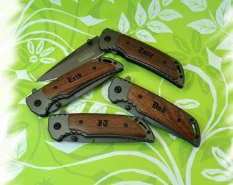 11-20 KNIVES , Engraved Pocket Knife , Boy scout Knife , Monogram Engraving ,Groomsman Gift ,Camping Knife - Hunting Knife