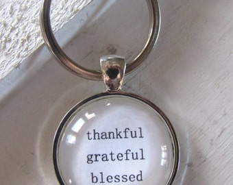 Thankful, Grateful, Blessed Key Ring, infant loss, child loss, baby loss keepsakes, memorial keychain, angel, child loss jewelry, handmade