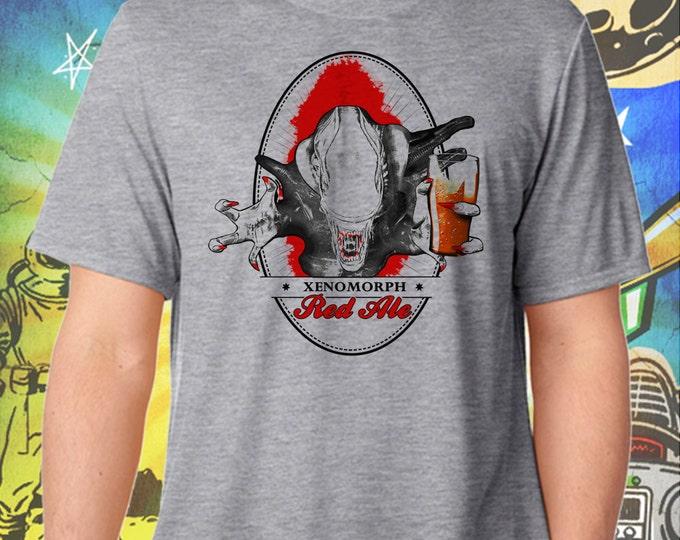 Alien Soldier Xenomorph Beer Gray Men's T-Shirt
