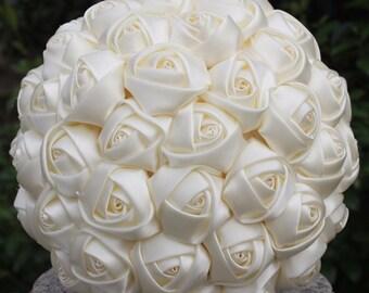 Satin Bridal Bouquet (Customized Color)