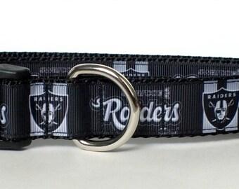 Oakland Raiders Inspired Dog Collar