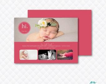 DIY Printable ~ Printable Baby Card ~ Birth Announcement ~ Photo Announcement ~ Baby Announcement ~ New Baby Card ~ Print Your Own