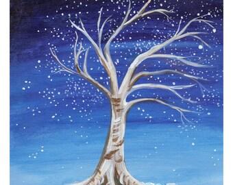 """8x10"""" Starlight Tree Art Print"""