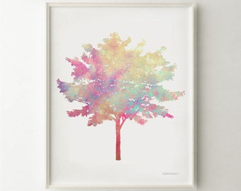 Digital print, Tree art print, Tree wall art, home decorations wall art print, Nature art Tree print, Bedroom wall decor Tree wall print
