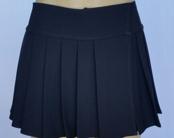 Plus Size Solid Black Spandex Skirts (OPENS / CLOSES with hook and loop fasteners strip)