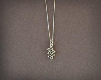 Dainty Pendant Sterling Silver, Dainty Necklace Minimalist Small Pendant Silver, Boho Jewelry Silver Minimalist Jewelry Geometric Necklace