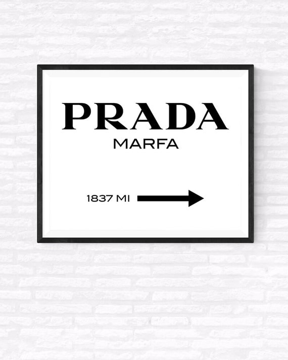 prada marfa printable poster fashion art by gabrielprintables. Black Bedroom Furniture Sets. Home Design Ideas