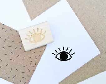 Eye Rubber Stamp - Hand Drawn Stamp - Eyeball Stamp - Third Eye - Eyeball Rubber Stamp - Snail Mail - All Seeing Eye - DIY Stationery