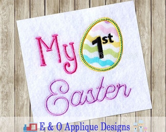 My First Easter Applique Design - My First Easter Embroidery Design - Easter Applique Design - Easter Embroidery Design - Digital Applique