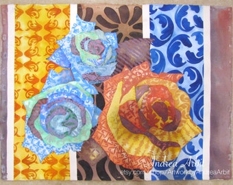 """Fire & Ice Roses - 22""""x30"""" Watercolor Painting"""