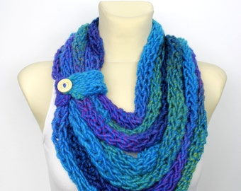 Chunky Knit Scarf - Knit Chain Scarf - Womens Knit Infinity - Knit Scarf Necklace - Chunky Chain Scarf - Knit Loop Scarf - Gift for Women