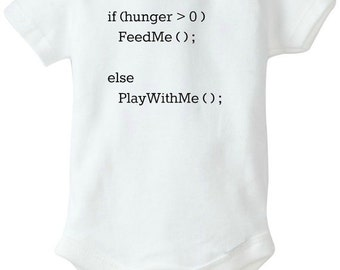 Nerd Alert! | Baby Coding Bodysuit | If Hungry, Feed Me, Everything Else, Play With Me | Nerd Bodysuits | Daddy Is A Nerd