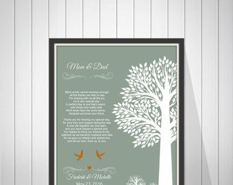 Wedding Thank You Gift for Parents from Bride and Groom Mother & Father In Law Gift  Wedding Gift from Couple - 43477G