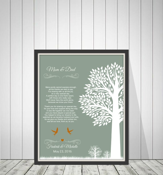 Parent Wedding Gifts Thank You: Wedding Thank You Gift For Parents From Bride By