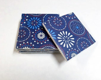 4th of July Coasters - 4th of July Decorations - Fourth of July Decor - Drink Coasters - Tile Coasters - Ceramic Coasters - Table Coasters