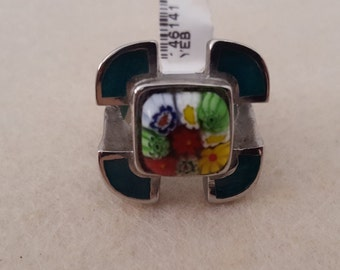 Millefiori Ring (Murano art glass) - Size 7 & 7 1/2