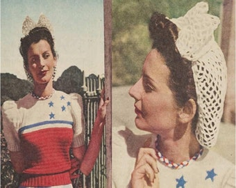 Crochet Snood Pattern Crochet BOW Snood Pattern Crochet Hair Snood Pattern Crochet Hair Net Pattern Vintage 40s