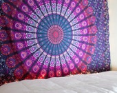 Mandala Tapestry, Mandala Throw, Bohemian Tapestry, Purple Tapestry, Mandala Bedspread, Tapestry Throw, Picnic Blanket