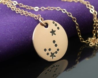 14k Rose Gold Filled Scorpio Necklace, Scrpio Necklace, Rose Gold, Constellation, Scorpio Jewelry, Zodiac Pendant, Rose Gold Pendant, gold