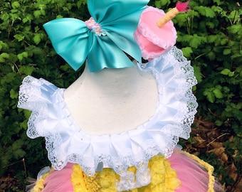 Lala Doll themed hair band/candle cake hairband