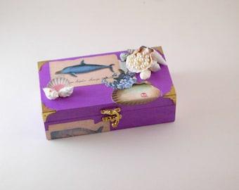 Wooden Jewellery/Trinket Box, Keepsake/Bits and Bobs Box, Jewellery Storage