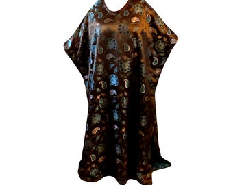 Paisley Caftan, Kaftan, Dress, Lounge Wear, Roomy House Dress, Swimsuit Coverup. Long Dress, Maxie Dress, Roomy Caftan, Comfortable Dress
