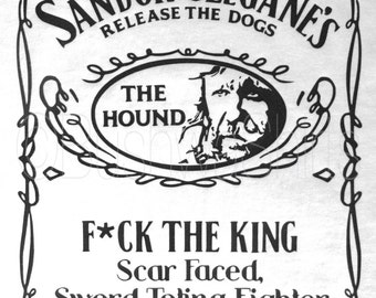 Game Of Thrones Inspired T Shirt Top Mens & Ladies The Hound ~ Sandor Clegane
