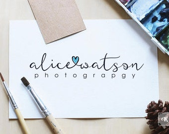 Lovely Logo Design, Premade Photography Logo, Hand Written logo , Logo Watermark
