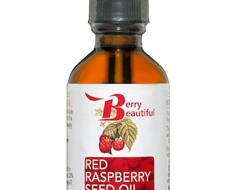 Red Raspberry Seed Oil - 2 Fl Oz (60 ml) - Cold Pressed by Berry Beautiful from locally grown Raspberries - 100% Pure & Unrefined